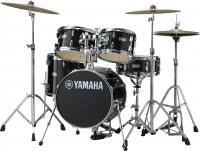 Batterie acoustique junior Yamaha Kit Junior Manu Katche - 4 fûts - Raven black