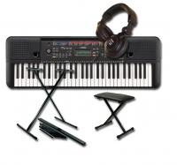 Pack clavier synthétiseur Yamaha PSR-E263 + stand + banquette + casque