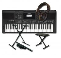 Pack clavier synthétiseur Yamaha PSR-E463 +stand +banquette +casque