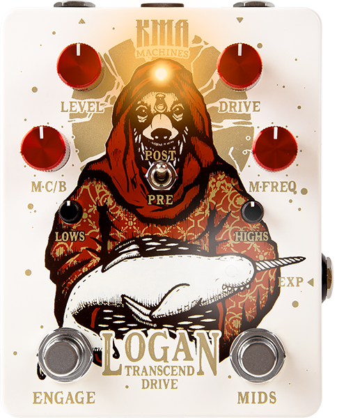 Pédale overdrive / distortion / fuzz Kma LOGAN Desert Overdrive