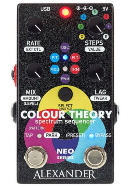 Pédale harmoniseur Alexander pedals Colour Theory Step Sequencer