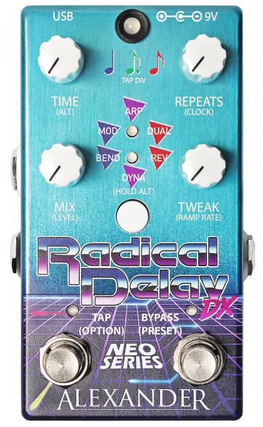 Pédale reverb / delay / echo Alexander Radical Delay DX