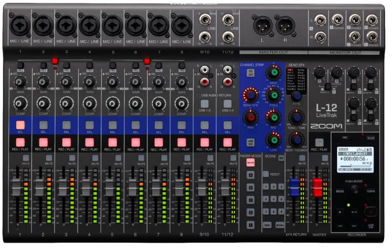 Zoom livetrak l 12 table de mixage analogique - Meuble pour table de mixage ...