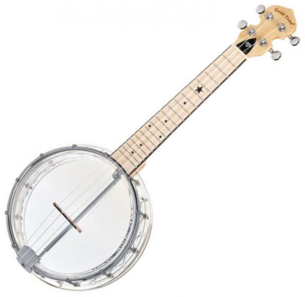 Banjo Gold tone Little Gem Banjolele +Bag - Transparent