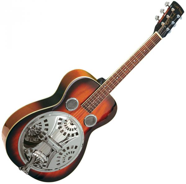 Dobro resonateur Gold tone Paul Beard PBR Roundneck Resonator Guitar +Case - Sunburst