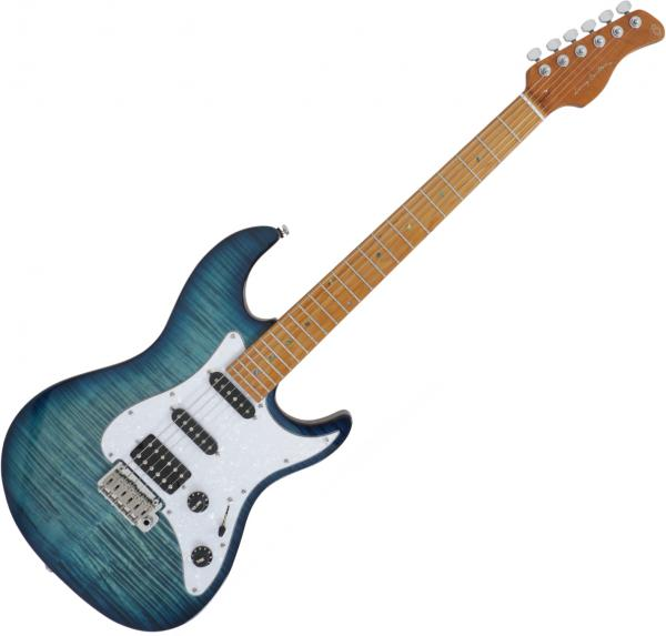 Guitare électrique solid body Sire Larry Carlton S7 FM - Trans blue