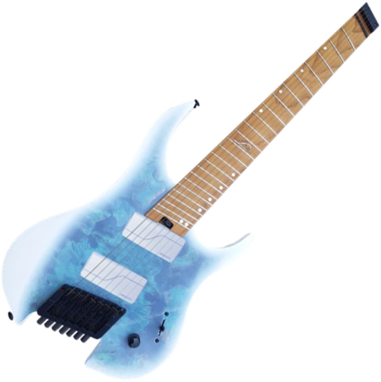 Guitare électrique multi-scale Legator Ghost G7FOD - Arctic blue