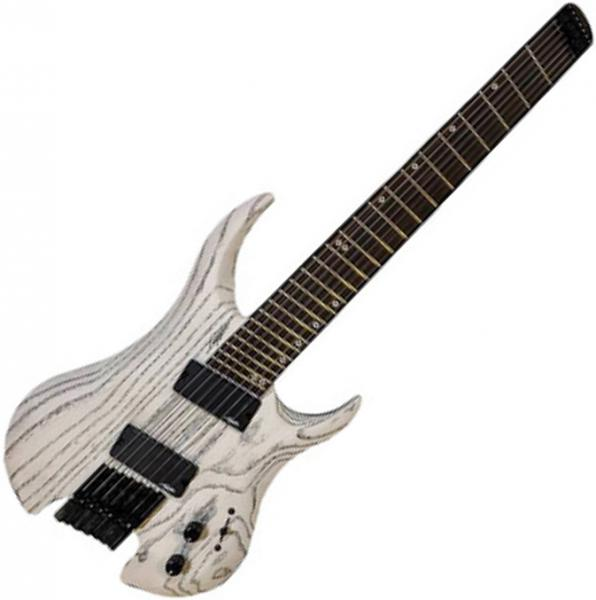 Guitare électrique multi-scale Legator Ghost Performance G7FP - White