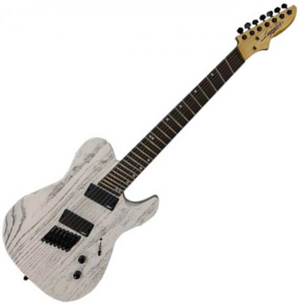 Guitare électrique multi-scale Legator Opus Performance O7FP - White