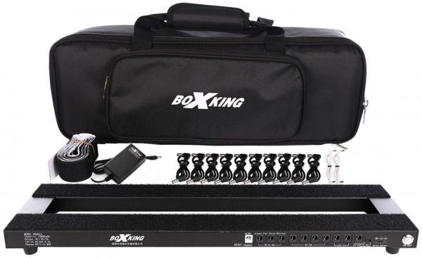 Pedal board flight pour effet Boxking PB4813 Powered Rechargeable Pedalboard +Bag
