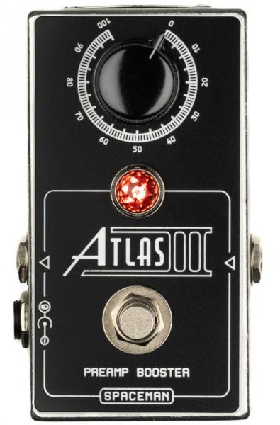 Pédale volume / boost. / expression Spaceman effects Atlas III Preamp Booster Ltd - Silver