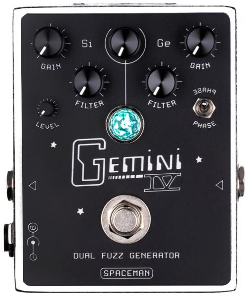 Pédale overdrive / distortion / fuzz Spaceman effects Gemini IV Dual Fuzz Generator Ltd - White