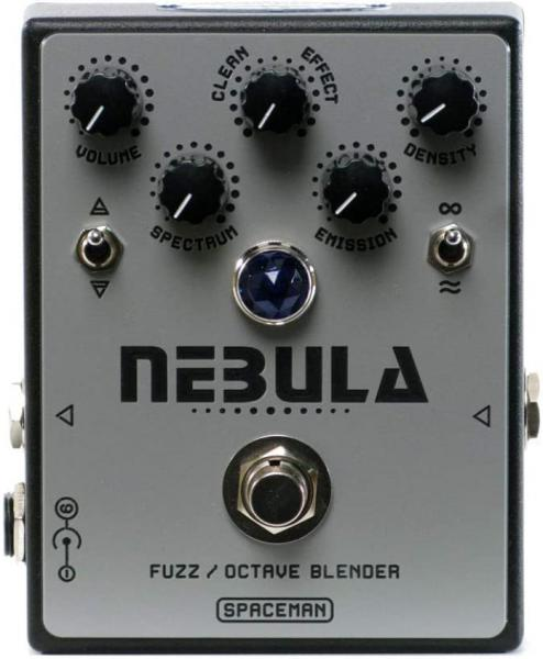 Pédale overdrive / distortion / fuzz Spaceman effects Nebula Fuzz Octave Blender Ltd - Black