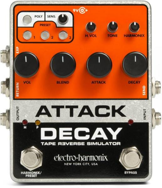 Pédale chorus / flanger / phaser / modul. / trem. Electro harmonix Attack Decay