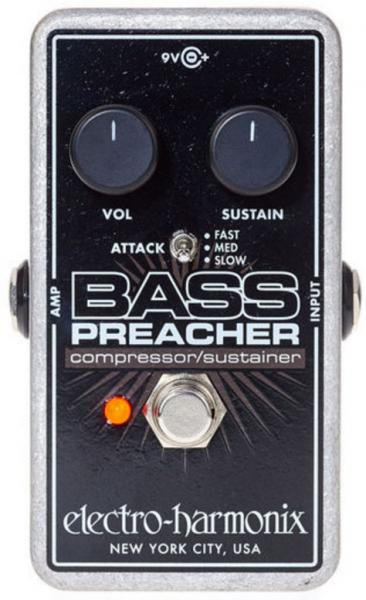Pédale compression / sustain / noise gate Electro harmonix Bass Preacher Compressor/Sustainer