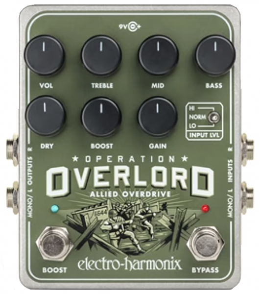 Pédale overdrive / distortion / fuzz Electro harmonix Operation Overlord Allied Overdrive
