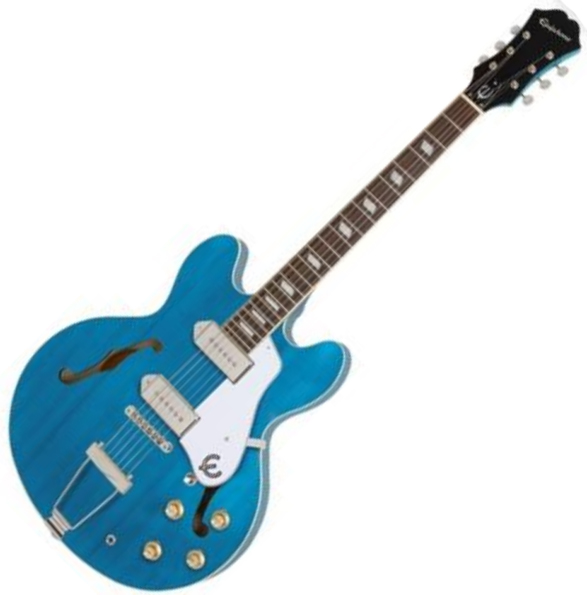 Guitare électrique 1/2 caisse Epiphone Archtop Casino - Worn blue denim