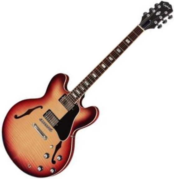 Guitare électrique 1/2 caisse Epiphone Inspired By Gibson ES-335 Figured - Raspberry tea burst