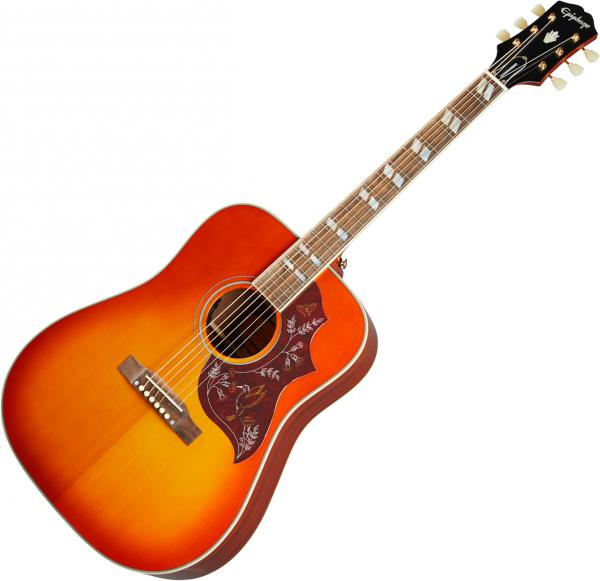 Guitare folk & electro Epiphone Inspired by Gibson Hummingbird - Aged cherry sunburst