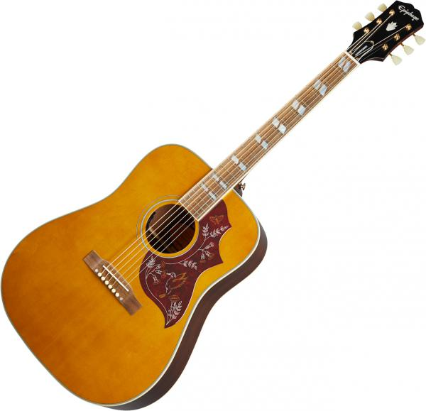 Guitare folk & electro Epiphone Inspired by Gibson Hummingbird - Aged antique natural