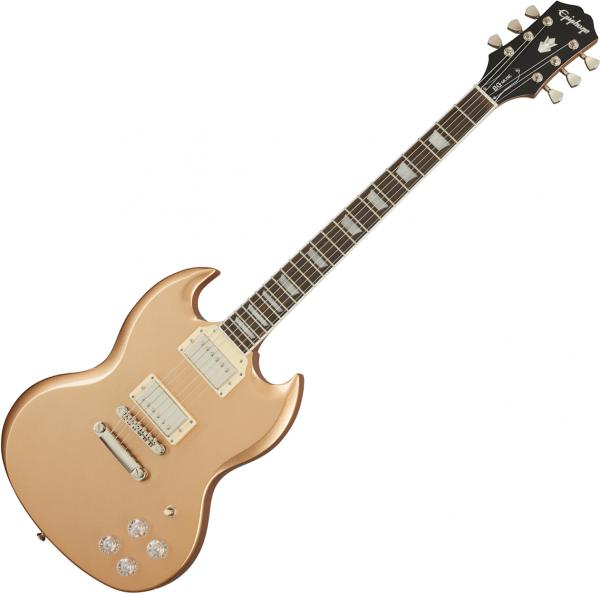 Guitare électrique solid body Epiphone SG Muse Modern - Smoked almond metallic