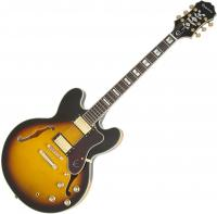 Guitare électrique hollow body Epiphone Sheraton-II PRO 2018 - Vintage sunburst
