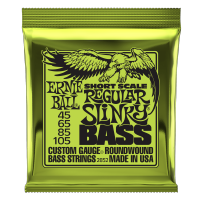 Cordes basse électrique Ernie ball Bass (4) 2852 Regular Slinky Short Scale 45-105 - Jeu de cordes