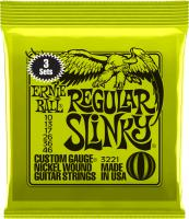 Cordes guitare électrique Ernie ball Electric (3X SET) 3221 Regular Slinky 10-46 - Jeu de cordes