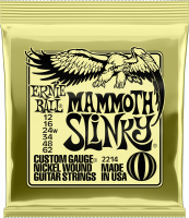 Cordes guitare électrique Ernie ball Electric (6) 2214 Mammoth Slinky 12-62 - Jeu de cordes