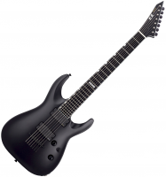 Guitare électrique baryton Esp E-II Horizon NT-7B - Black satin