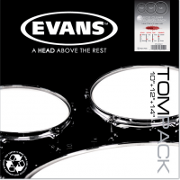 Pack peaux Evans Tom Pack Transparent Fusion 10-12-14 - Pack peaux