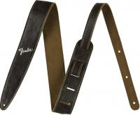 Courroie sangle Fender 2-inches Distressed Leather Straps - Black