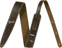 Courroie sangle Fender 2-inches Distressed Leather Straps - Brown