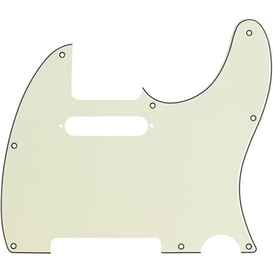 Pickguard Fender 8-Hole Mount Multi-Ply Telecaster Pickguards - Mint Green