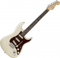 Guitare électrique solid body Fender American Elite Stratocaster (USA, EB) - Olympic pearl