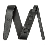 Courroie sangle Fender Artisan Crafted Leather Straps 2.5inc. - Black