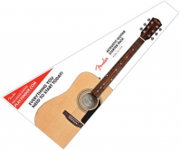 Pack guitare folk Fender CD-60S Pack - Natural