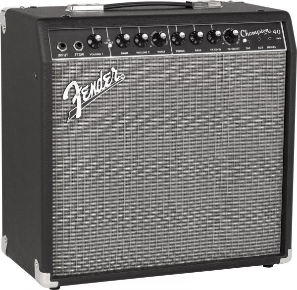 Combo ampli guitare électrique Fender Champion 40 - Black