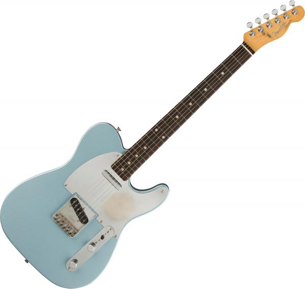 Guitare électrique solid body Fender Chrissie Hynde Telecaster (MEX, RW) - Road worn faded ice blue metallic