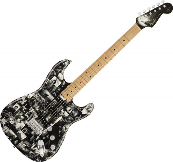 Guitare électrique solid body Fender Custom Shop Andy Summers Monochrome Strat - Monochrome