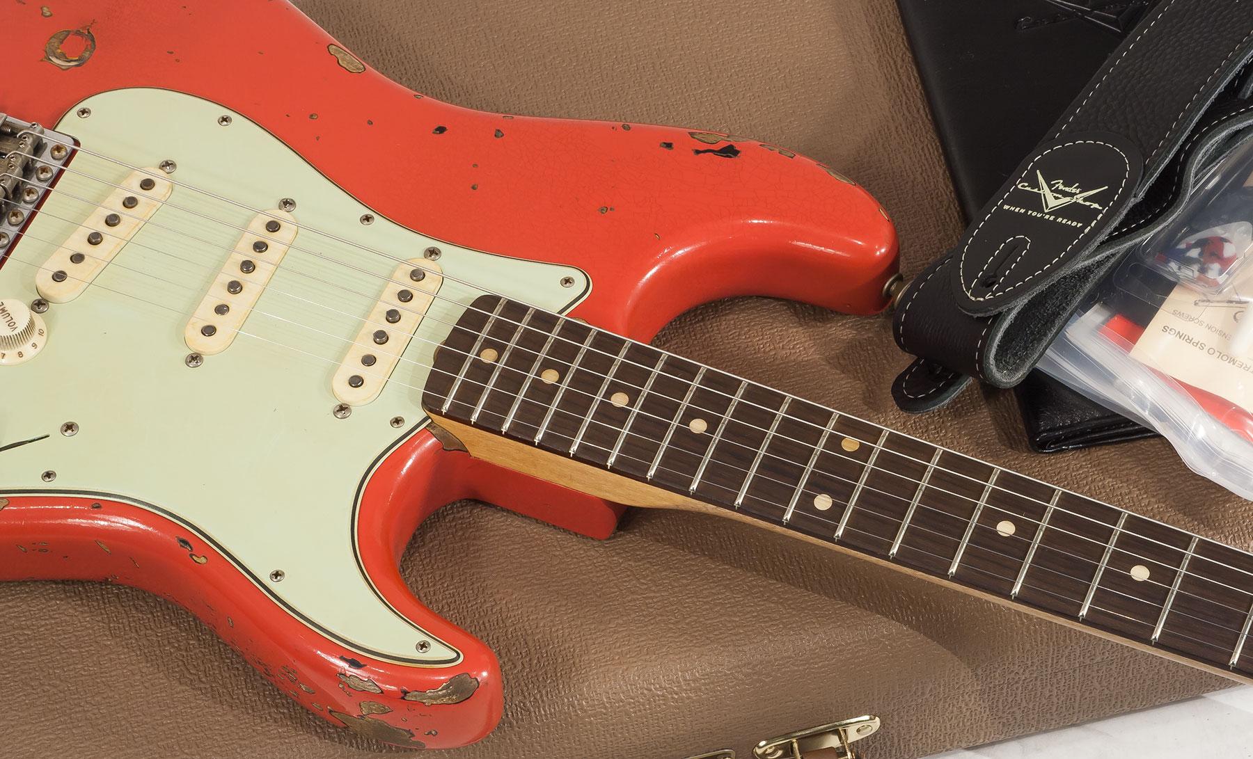 Custom Shop Stratocaster Michael Landau 1963 Masterbuilt J Smith - relic  fiesta red/sunburst