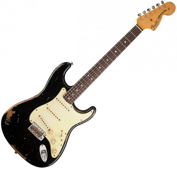 Guitare électrique solid body Fender Custom Shop Stratocaster Michael Landau 1968 Masterbuilt J.Smith - Relic black