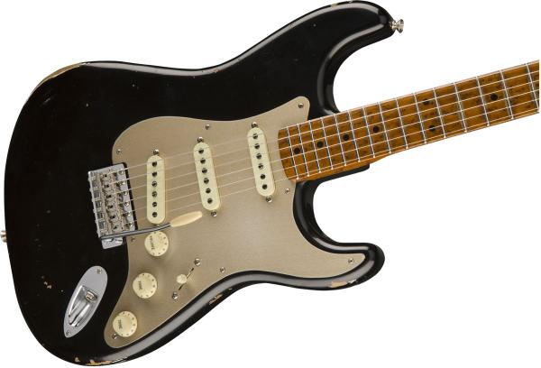 image Custom Shop 1956 Fat Roasted Stratocaster Ltd (MN) - relic aged black