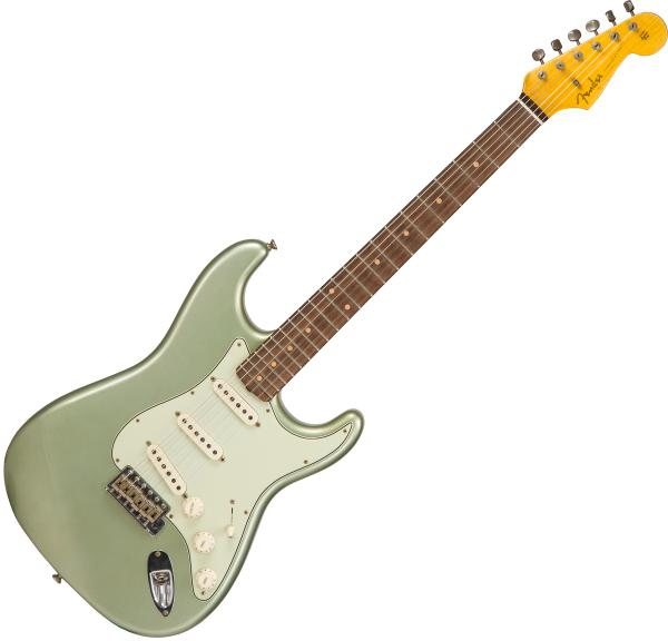 Guitare électrique solid body Fender Custom Shop 1959 Stratocaster #CZ541420 - Journeyman relic sage green metallic