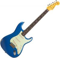 Guitare électrique solid body Fender Custom Shop 1960 Stratocaster (#R90086) - Relic lake placid blue