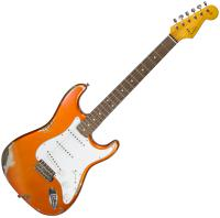 Guitare électrique solid body Fender Custom Shop 1962 Stratocaster #R87749 - Heavy relic candy tangerine