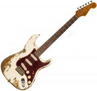 Guitare électrique solid body Fender Custom Shop 1962 Stratocaster Ltd CZ541607 - Super heavy relic aged olympic white