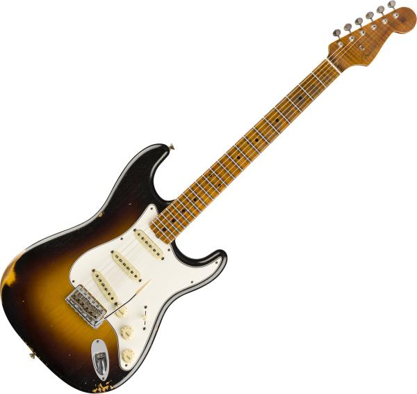 Guitare électrique solid body Fender Custom Shop Roasted Tomatillo Strat Ltd - Wide fade 2-color sunburst