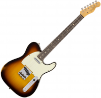 Guitare électrique solid body Fender Custom Shop 1962 Telecaster Custom (RW) - Relic faded 3-color sunburst