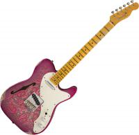 Custom Shop '50s Telecaster Thinline Ltd (MN) - Relic pink paisley